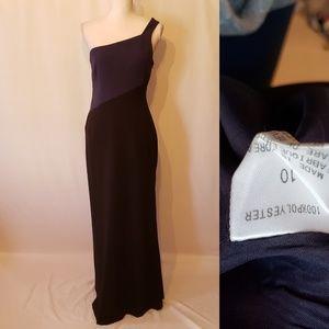 Tahari one shoulder dress
